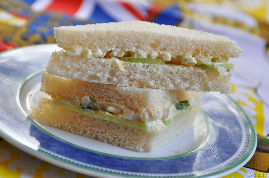 Prawn And Shrimp Salad Sandwiches With A Proper Cuppa Tea