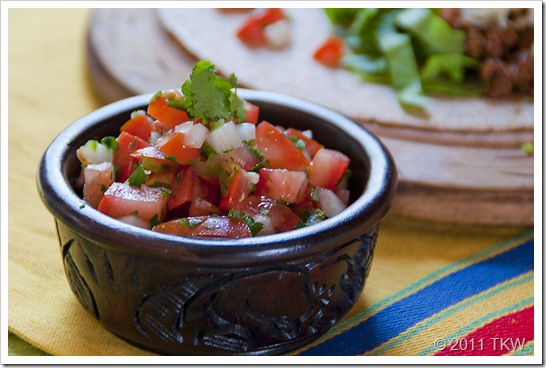 Tequila Pico de Gallo Close