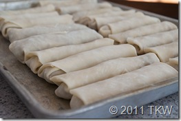 5 Spiced Egg Roll - all rolled