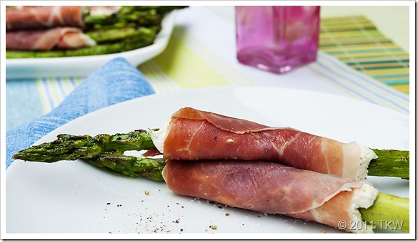 Asparagus, proscuitto and Boursin-1