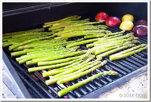 Asparagus, proscuitto and Boursin on Grill