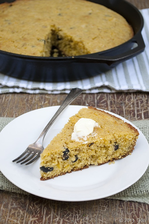 Olive and Green Chile Cornbread