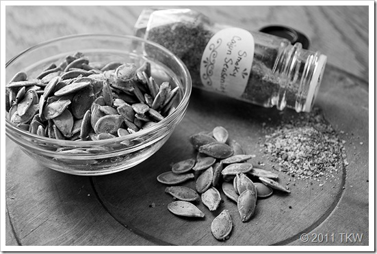 Cajun Spiced Pumpking seeds_110111_0049 BW