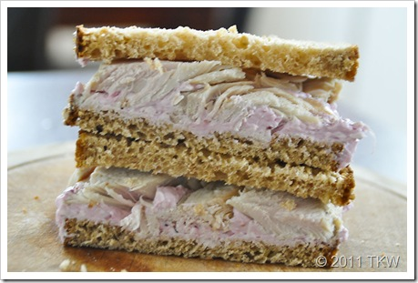 Turkey Cranberry Cream Cheese Sandwich 2