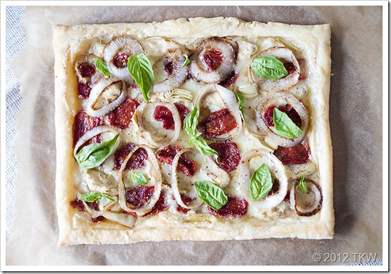Sun Dried Tomato and Goat Cheese Brie Tart_011412_0027