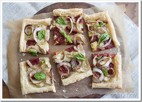 Sun Dried Tomato and Goat Cheese Brie Tart_011412_0050