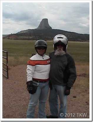 Sturgis 2005 My Father in Law and I at Devil's Tower