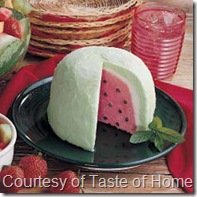 Watermelon Bombe from Taste of Home