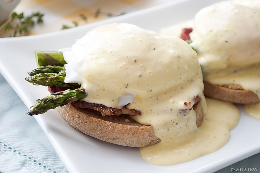 Meyer Lemon Eggs Benedict and Grilled Asparagus | Cooking and Recipes