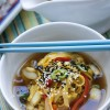 Vegan, Asian, Rice Noodles, Sesame Seeds, Peppers, Grilling, Soup, Spicy, Vegetables, Vegetarian, recipe
