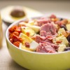 food, Photography, recipe, lettuce, tomato, ham, bacon, Avocados, Blue Cheese, olives