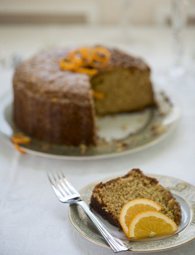 Candied Orange Olive Oil Cake