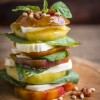 tomatoes, mozzarella, insalata caprese, basil, pesto, garlic, pine nuts, Pancetta, heirloom, photography. tips, food, recipe, styling