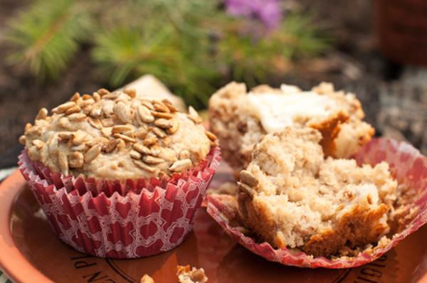 FreshPeach and Sunflower seed muffins thekitchenwitchblog.com.jpg