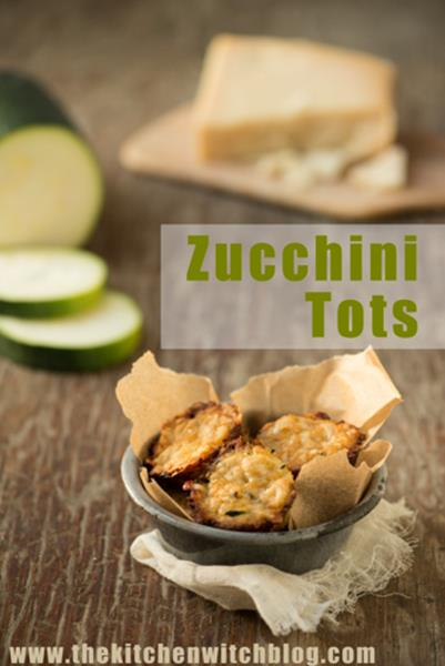 Roasted Garlic Zucchini Tots