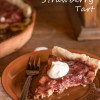 Smashed Rhubarb and Strawberry Tart