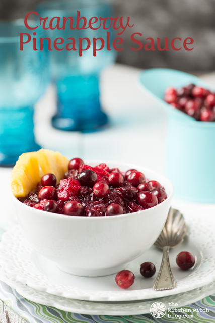 Cranberry Pineapple Sauce www.thekitchenwitchblog.com ©Rhonda Adkins Photography 2013