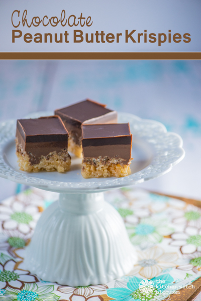 Chocolate Peanut Butter Krispies ©Rhonda Adkins Photography 2014 www.thekitchenwitchblog.com