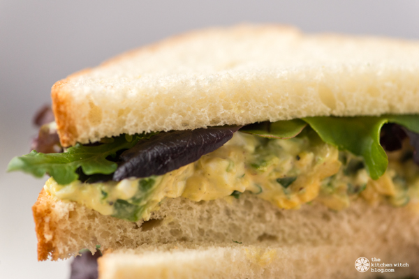 Avocado and egg salad sandwich www.thekitchenwitchblog.com ©Rhonda Adkins Photography 2014