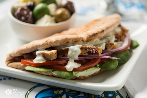 easy chicken gyros ©Rhonda Adkins Photography 2014